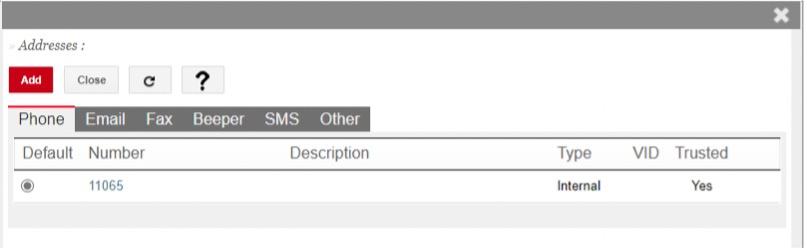 address settings