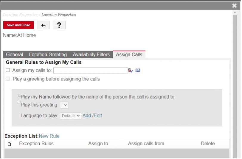 assign calls