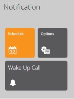 notification options