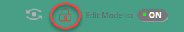 Locked padlock icon to the left of the Edit Mode option