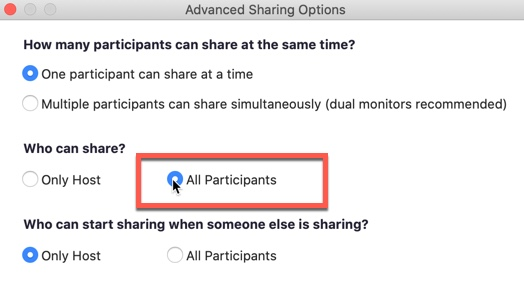 Advanced share - all participants image