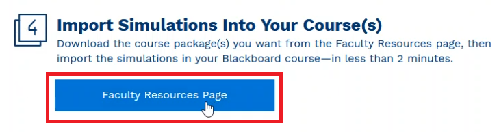 Faculty Resource Page Button
