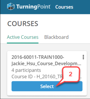 Select Active Course