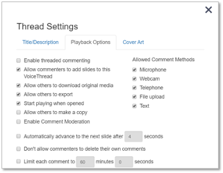 Thread settings detail image